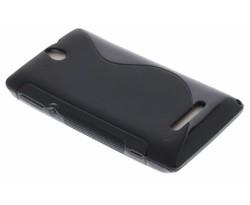 Zwart S-Line TPU hoesje Sony Xperia E