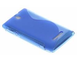 Blauw S-Line TPU hoesje Sony Xperia E
