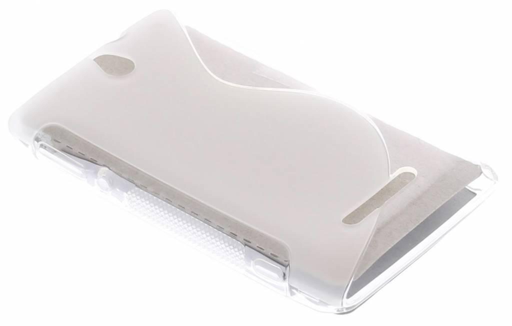 Transparant S-Line TPU hoesje Sony Xperia E