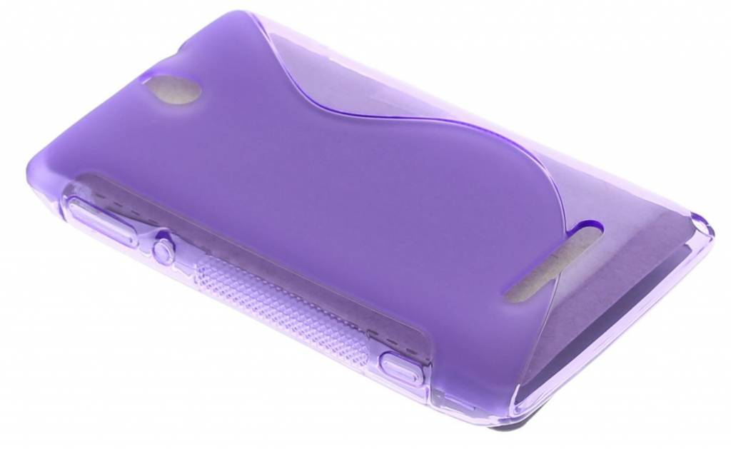 Paars S-Line TPU hoesje Sony Xperia E