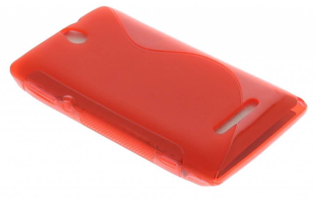 Rood S-Line TPU hoesje Sony Xperia E