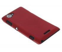 Rood effen hardcase Sony Xperia L
