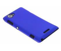 Blauw effen hardcase Sony Xperia L