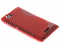 Rood S-line TPU hoesje Sony Xperia L