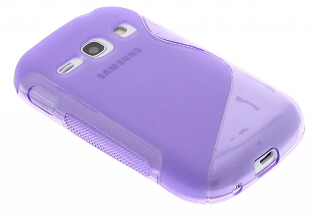 Paars S-line TPU hoesje voor de Samsung Galaxy Fame