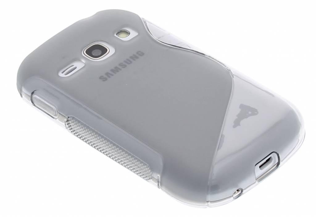 Grijs S-line TPU hoesje voor de Samsung Galaxy Fame