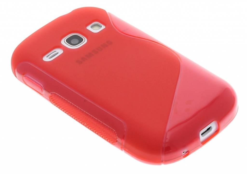 Rood S-line TPU hoesje voor de Samsung Galaxy Fame