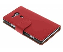 Rood effen booktype hoes Sony Xperia SP