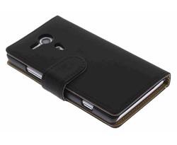 Zwart effen booktype hoes Sony Xperia SP