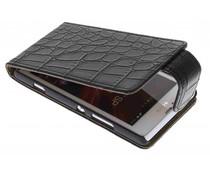 Zwart krokodil flipcase Sony Xperia SP