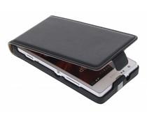 Zwart luxe flipcase Sony Xperia SP