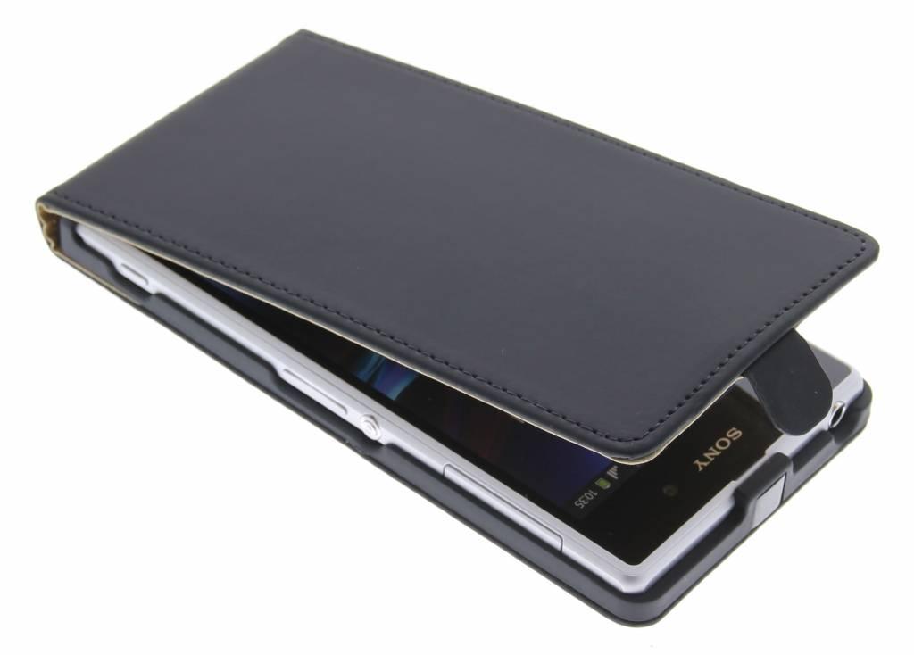 Zwart luxe flipcase voor Sony Xperia Z1