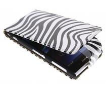 Zebra flipcase Sony Xperia Z1