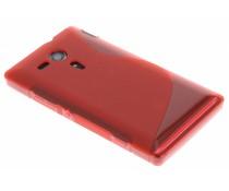 Rood S-line TPU hoesje Sony Xperia SP