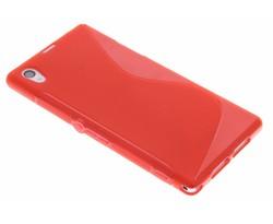 Rood S-line TPU hoesje Sony Xperia Z1