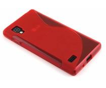 Rood S-line TPU hoesje LG Optimus L9