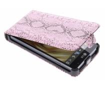 Roze slangen design flipcase LG Optimus L9