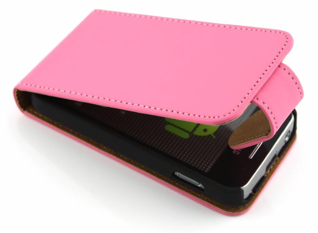 Roze classic mooie sterke flipcase voor Samsung Galaxy Ace