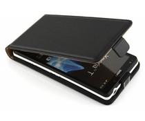 Zwart luxe flipcase Sony Xperia T
