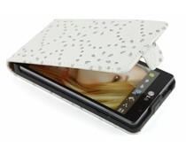 Witte bloemblad design flipcase LG Optimus L9