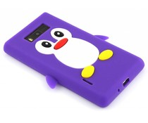 Paars pinguin siliconen hoesje LG Optimus L7