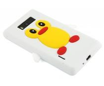 Wit pinguin siliconen hoesje LG Optimus L7