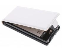 Wit luxe flipcase LG Optimus L7