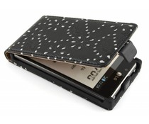 Zwart bloemblad design flipcase LG Optimus L7