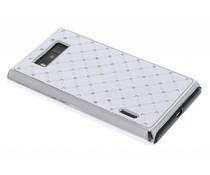 Wit hardcase hoesje met strass-steentjes LG Optimus L7