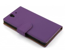 Paars booktype hoes Sony Xperia Z