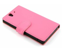 Roze booktype hoes Sony Xperia Z