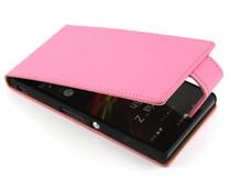 Roze classic flipcase Sony Xperia Z