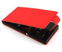 Rood classic flipcase Sony Xperia Z