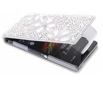 Glazen strass flipcase Sony Xperia Z