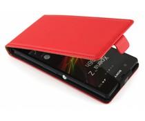 Rood luxe flipcase Sony Xperia Z