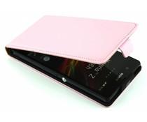 Roze luxe flipcase Sony Xperia Z