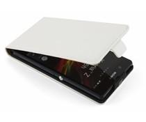 Wit luxe flipcase Sony Xperia Z