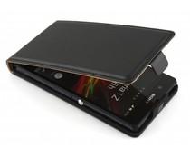Zwart luxe flipcase Sony Xperia Z