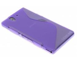 Paars S-line TPU hoesje Sony Xperia Z