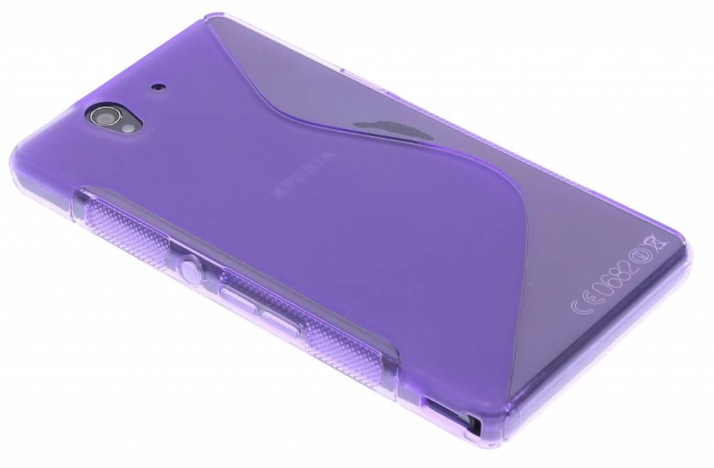 Paars S-line flexibel TPU hoesje voor Sony Xperia Z