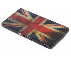 Vintage Britse vlag TPU hoesje Sony Xperia Z