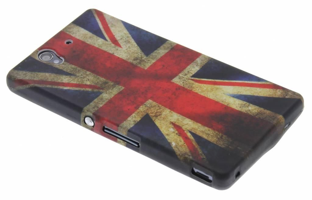 Vintage Britse vlag TPU siliconen hoesje voor de Sony Xperia Z