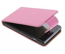Roze classic effen flipcase LG Optimus L5 II