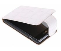 Wit krokodil flipcase LG Optimus L5 II