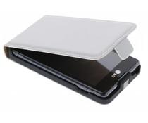 Wit luxe flipcase LG Optimus L5 II