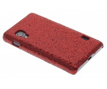 Rood glamour design hoesje LG Optimus L5 II