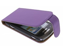 Paars classic flipcase Samsung Galaxy Xcover 2