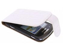 Wit classic krokodil flipcase Samsung Galaxy Xcover 2