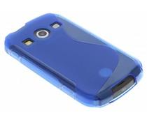 Blauw S-line TPU hoesje Samsung Galaxy Xcover 2