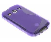 Paars S-line TPU hoesje Samsung Galaxy Xcover 2